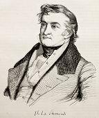 Постер, плакат: Жан Шарль де Sismondi швейцарский писатель старый гравированном портрете и подпись Неопознанный автор