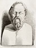 stock photo of socrates  - Socrates bust kept in Louvre museum - JPG