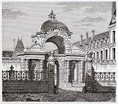 stock photo of dauphin  - Porte Dauphine in Fontainebleau castle - JPG