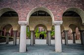 View Of Stockholm City Hall Courtyard Building (stadshuset) Of Municipal Council And Nobel Prize Thr poster