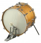 foto of drum-kit  - stock image of the musical instrument bass drum - JPG