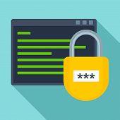 Secured Program Icon. Flat Illustration Of Secured Program Icon For Web Design poster