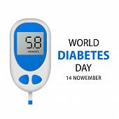 November Diabetes Day Concept Background. Realistic Illustration Of November Diabetes Day Concept Ba poster