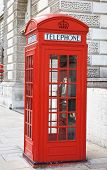 Famous red telephone booth in London, UK