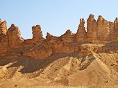 picture of riyadh  - Clay rocks surrounding Riyadh city in Saudi Arabia - JPG