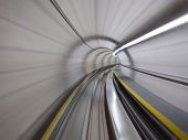 foto of zurich  - Going trough the underground tunnel  - JPG