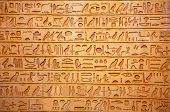 image of hieroglyphic symbol  - Egyptian hieroglyphs on the wall - JPG