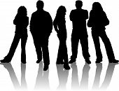 foto of person silhouette  - silhouettes of young people - JPG