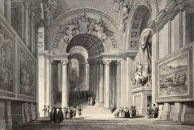 stock photo of luigi  - Antique illustration of Scala Regia  - JPG