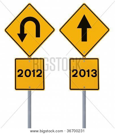 Old and New Year Signs