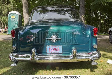 Blue Oldsmobile 88 Rear View