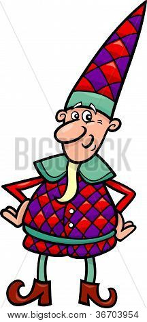Christmas Elf Or Gnome Cartoon