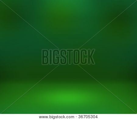 Empty Spotlight Green Room Background