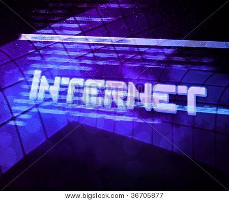 Internet Source Code Violet Background
