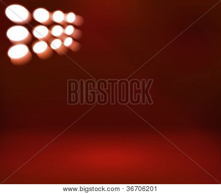 Spotlight Red Room Background