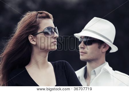 Young couple in conflict
