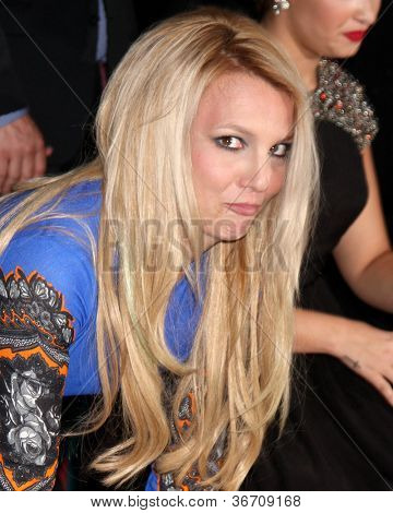LOS ANGELES - SEP 11:  Britney Spears at the FOX  X-Factor Judges Handprint Ceremony at Graumans Chinese Theater on September 11, 2012 in Los Angeles, CA