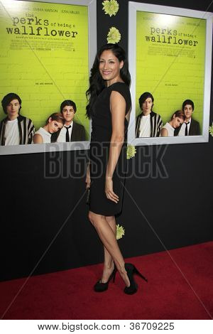 "LOS ANGELES - SEP 10:  Tehmina Sunny arrives at ""The Perks of Being a Wallflower"" Premiere at ArcLight Cinemas on September 10, 2012 in Los Angeles, CA"