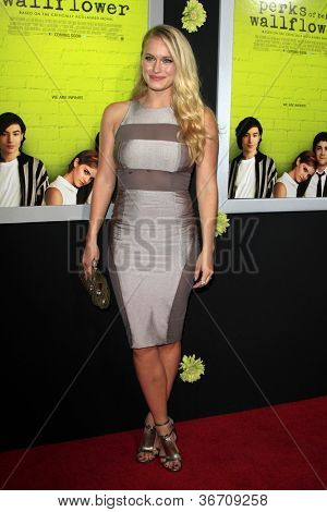 """LOS ANGELES - SEP 10:  Leven Rambin arrives at """"The Perks of Being a Wallflower"""" Premiere at ArcLight Cinemas on September 10, 2012 in Los Angeles, CA"""