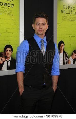 """LOS ANGELES - SEP 10:  Jackson Rathbone arrives at """"The Perks of Being a Wallflower"""" Premiere at ArcLight Cinemas on September 10, 2012 in Los Angeles, CA"""