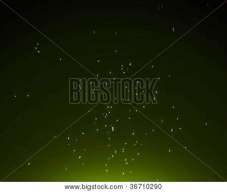Background of green spangles bright
