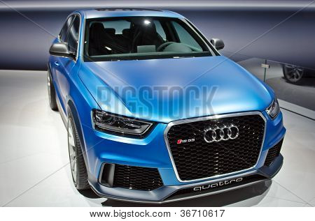 MOSCOW-SEPTEMBER 8: In Moscow International Motor Show. Audi RS Q3 Quattro, on September 8,2012 in Moscow