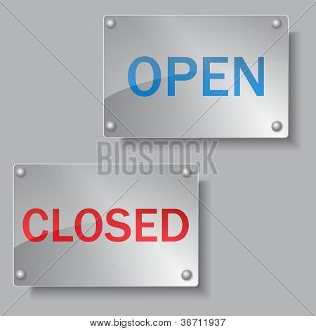 Glass Open and Closed boards