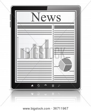 News on the screen of Tablet PC