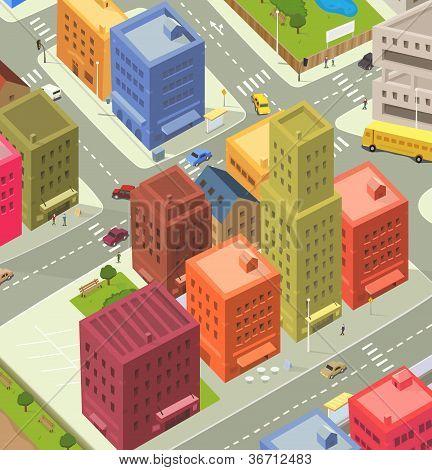Cartoon City Aerial View