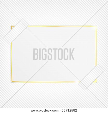 Paper card on a striped background