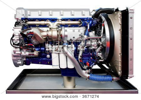 Trucks Engine Blue