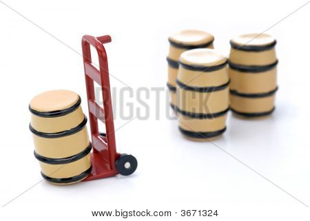 Barrels And Dolly