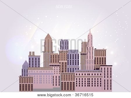New York houses background