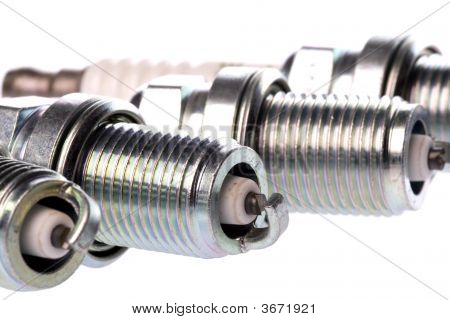 Spark Plugs Isolated