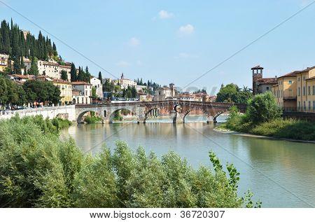 St. Peter bridge in Verona, Italy
