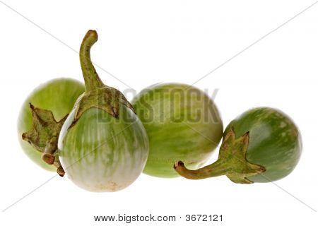 Green Brinjals Macro