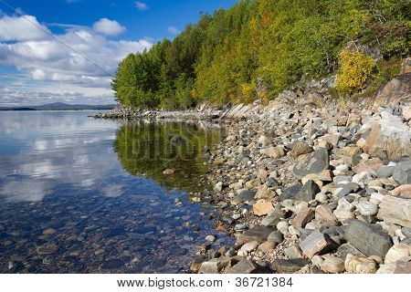 Coast Of The White Sea, Early Autumn, Russia