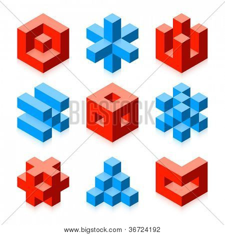 Cubic objects. Vector.