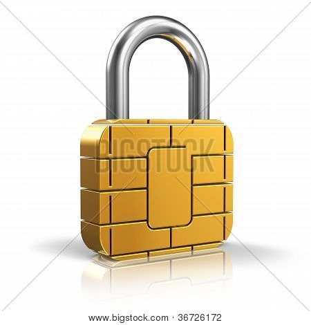 SIM card or credit card security concept