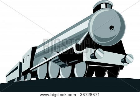 Steam Train Locomotive Low Angle Retro