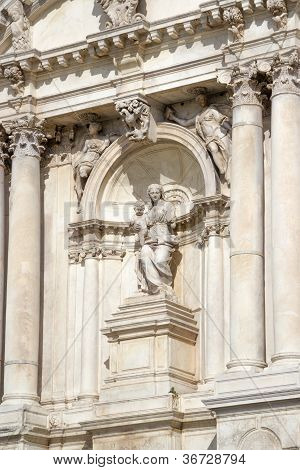 Sculpture On A Facade Of An Building