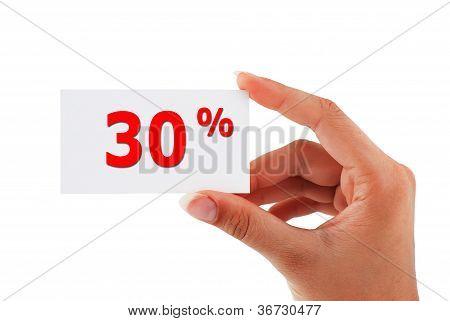 30 Percent  Card