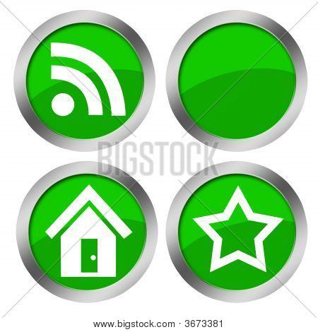 Web Green Buttoms