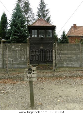 Watchtower In Main Auschwitz Camp