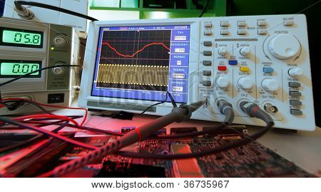Check the status of the PCB in the electronics lab