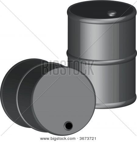Barrel Black 3D.
