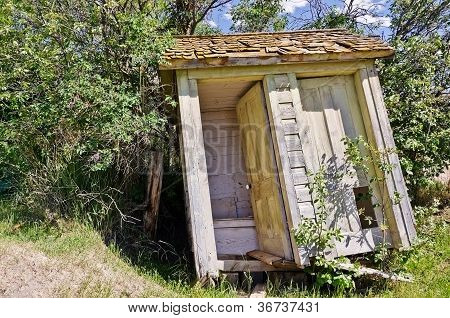 Leaning Outhouse