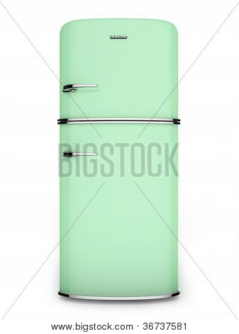 Retro green refrigerator