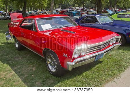 1967 Chevy Chevelle Ss Red