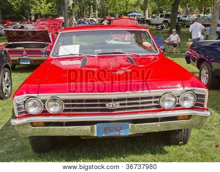 1967 Chevy Chevelle Ss Red Front View